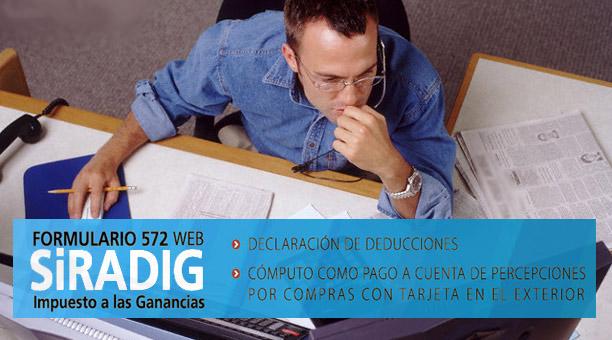 SIRADIG FORMAULARIO 572 WEB GANANCIAS