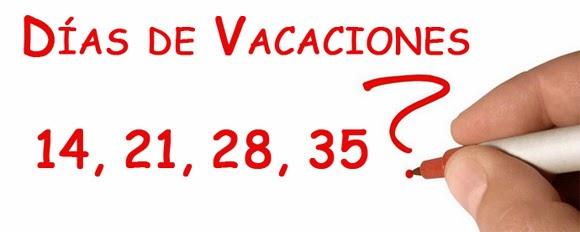 Cuántos días de vacaciones me corresponden?