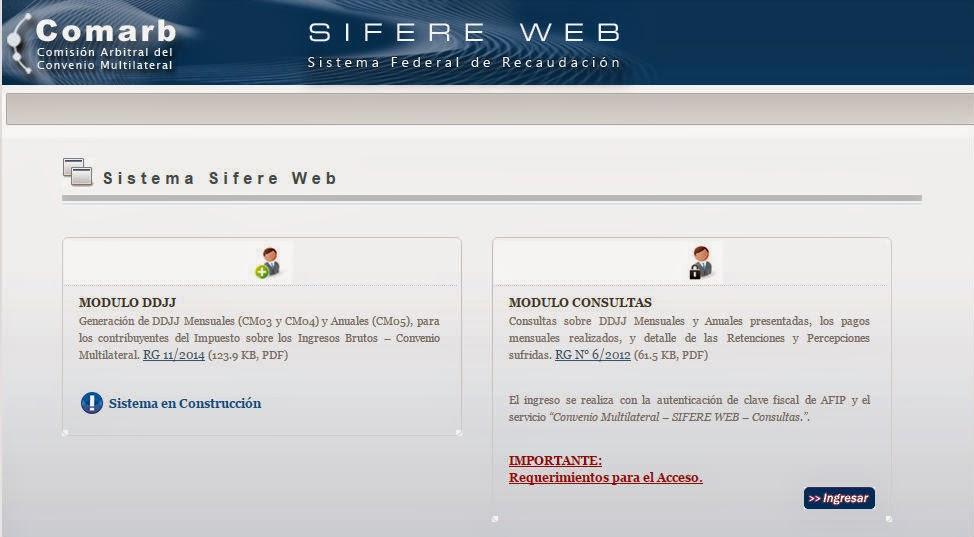 SIFERE WEB presentaciones anuales y mensuales online