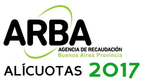 ARBA Alícuotas Ingresos Brutos 2017 Provincia de Buenos Aires
