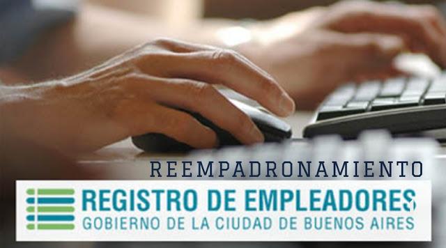 """Reempadronamiento en el """"Registro de Empleadores On Line"""" desde octubre"""