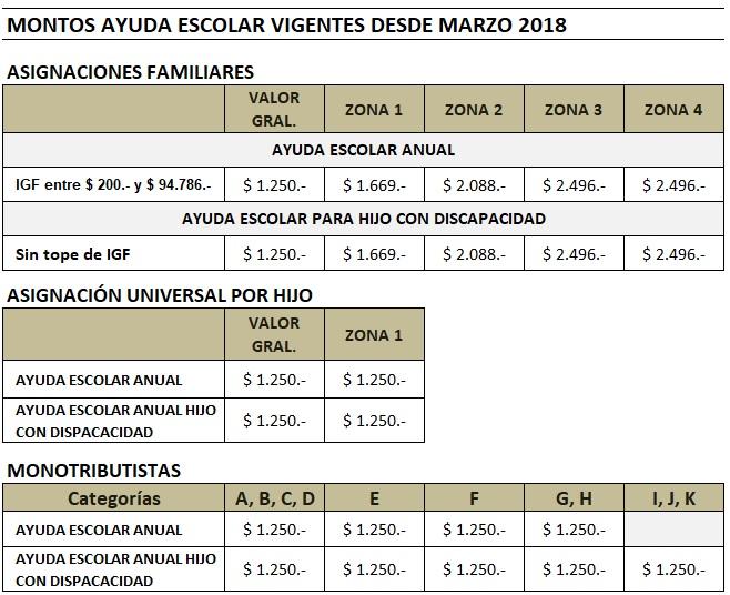 Liquidacion Asignaciones Universal Anses | asignación por